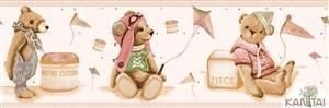 Faixa Infantil Vinílico Lavável Urso Rosa BB220706B