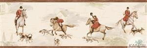 Faixa Infantil Vinílico Lavável Cavalo Marrom BB220103B