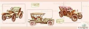 Faixa Infantil Vinílico Lavável Carro antigo Rosa BB220003B