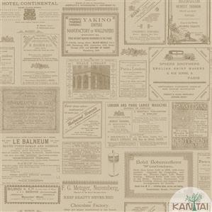 Papel de Parede Infantil Jornal Vinílico Lavável BB220203