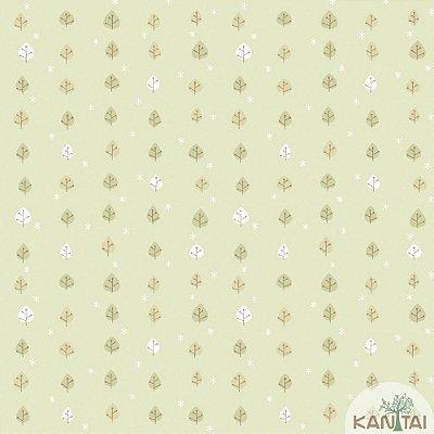 Papel de Parede Infantil Folhagem Vinílico Lavável Verde BB221603
