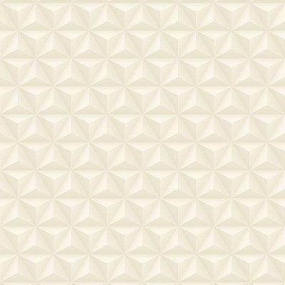 Papel de Parede Geométrico 3D Bege Claro Bobinex Diplomata 3105 Vinílico Lavável