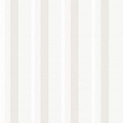 Papel de Parede Listrado Trama Tecido Branco, Gelo e Bege Bobinex Diplomata 3139 Vinílico Lavável