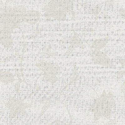 Papel de Parede Floral Palha Cinza Bobinex Natural 1400 Vinílico Lavável