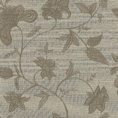 Papel de Parede Floral Palha Grafite Bobinex Natural 1403 Vinílico Lavável