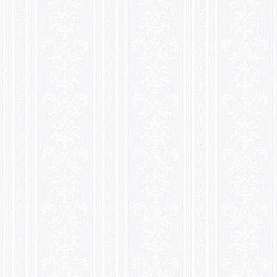 Papel de Parede Listra e Arabesco Branco Bobinex Relevos 3400