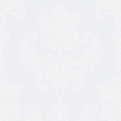 Papel de Parede Arabesco Vazado Branco Bobinex Relevos 3403