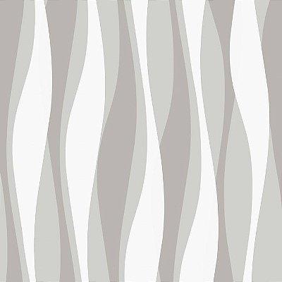 Papel de Parede 3D Cinza Bobinex Relevos 3434