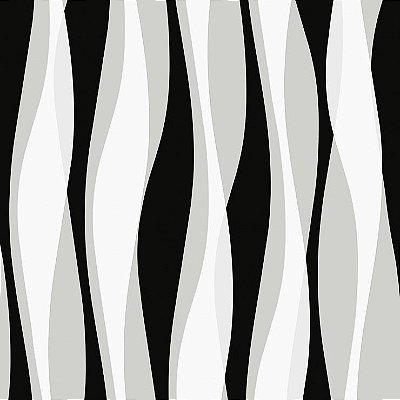 Papel de Parede 3D Preto Bobinex Relevos 3449