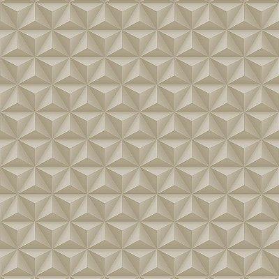 Papel de Parede Geométrico 3D Bege Bobinex Diplomata 3130 Vinílico Lavável