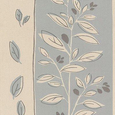 Papel de Parede Floral Cinza e Bege Bobinex Harmonia 9100 Vinílico Lavável