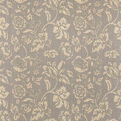 Papel de Parede Floral Cinza e Bege Bobinex Harmonia 9130 Vinílico Lavável