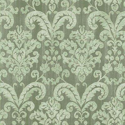 Papel de Parede Floral Verde Manchado Bobinex Classique 2847