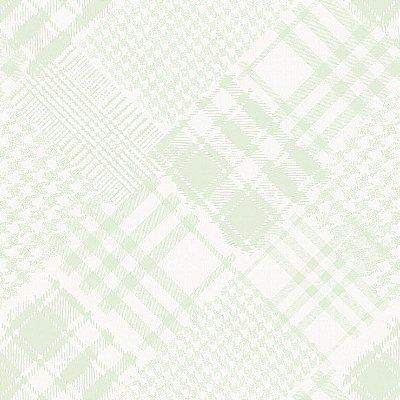Papel de Parede Infantário Henrique Xadrez Patchworke Verde Bobinex Infantário 1716
