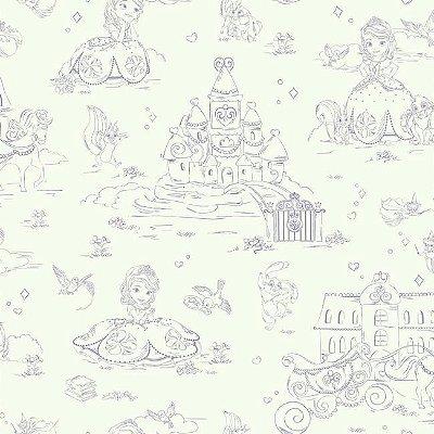 Papel de Parede Princesinha Sofia Disney York II DS7626