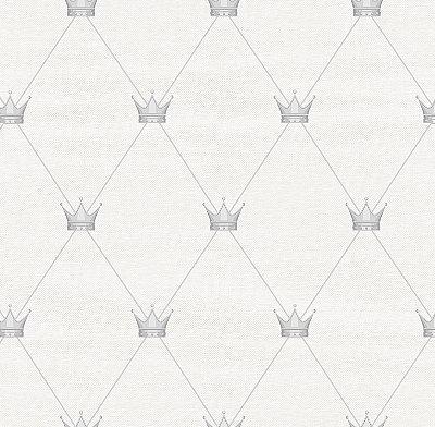 Papel de Parede Coroa Tons de Cinza Bobinex Renascer 6230 Vinílico