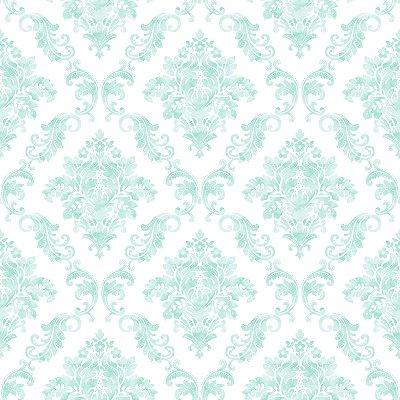 Papel de Parede Damask Verde Bobinex Renascer 6250 Vinílico