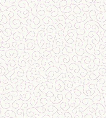 Papel de Parede Arabesco Floral Branco e Rosa Suave com Brilho Perolado Bobinex Renascer 6254 Vinílico
