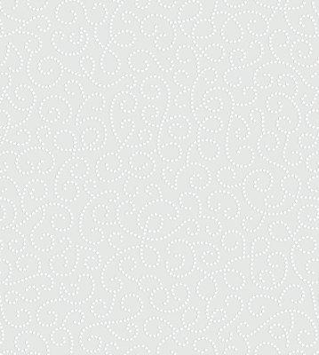 Papel de Parede Arabesco Floral Cinza Bobinex Renascer 6257 Vinílico