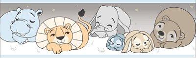 Faixa Treboli Animais Dormindo Azul