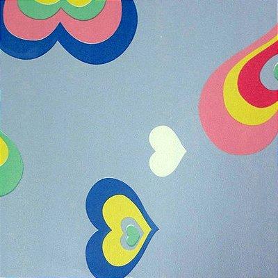 Papel de Parede Corações Tons de Azul Kawayi 312205 Vinílico