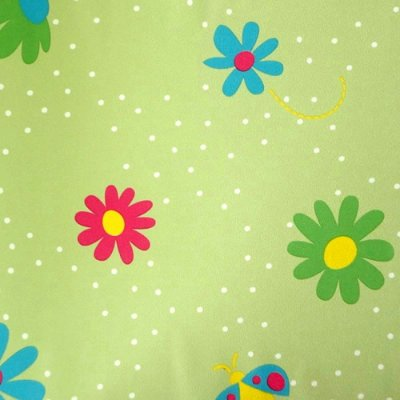 Papel de Parede Flores e Borboletas Verde Kawayi 312803 Vinílico