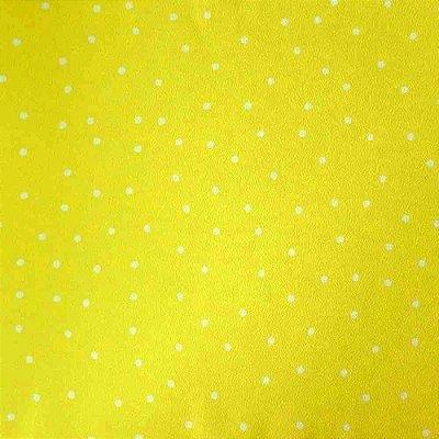 Papel de Parede Poá Amarelo e Branco Kawayi 312901 Vinílico