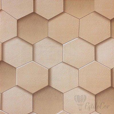 Papel de Parede Geométrico 3D Tons de Bege Kantai Grace Vinílico GR920803