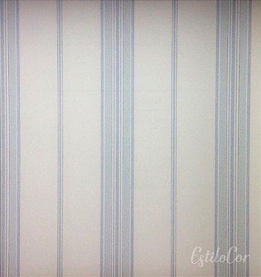 Papel de Parede Listras Tons de Azul Kantai Grace Vinílico GR921103