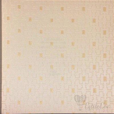 Papel de Parede Geométrico Estilizada Bege Claro com Brilho Kantai Grace Vinílico GR920902