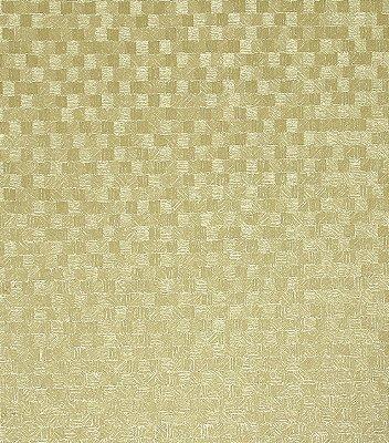 Papel de Parede Quadriculado Dourado Vinílico