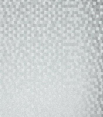 Papel de Parede Quadriculado Prata Vinílico