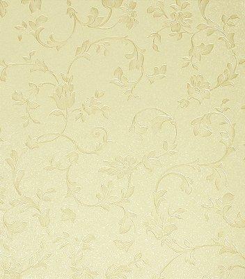 Papel de Parede Floral Bege Vinílico