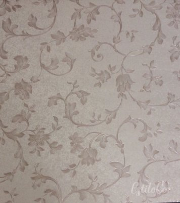 Papel de Parede Floral Bege Escuro Vinílico