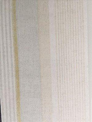 Papel de Parede Vinílico  Listras (Verde Claro Acinzentado/ Bege Claro/ Leve Dourado/ Leve Brilho)