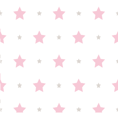 Papel de Parede Treboli Estrela Rosa