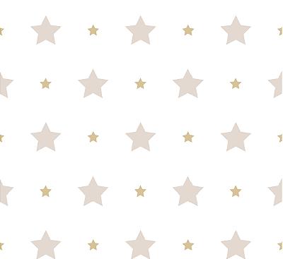 Papel de Parede Treboli Estrela Tons de Bege