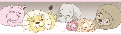 Faixa Treboli Animais Dormindo Rosa