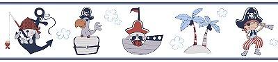 Faixa Treboli Pirata Azul e Vermelho