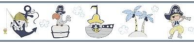 Faixa Treboli Pirata Azul e Amarelo