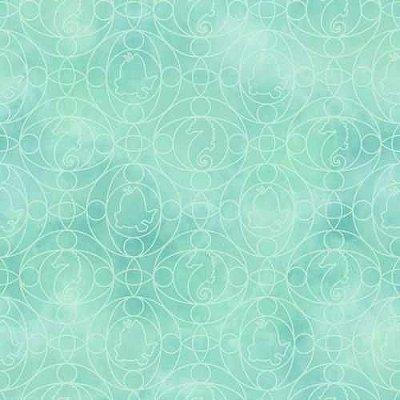 Papel de Parede Pequena Sereia Verde DY0349