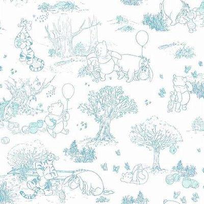 Papel de Parede Ursinho Pooh Azul DS7868