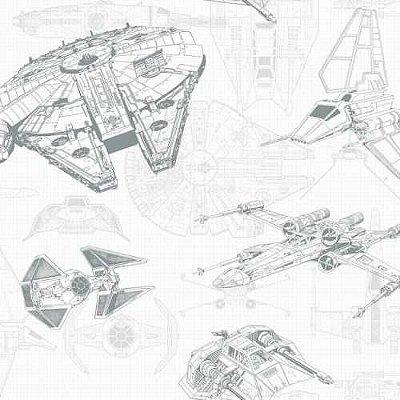 Papel de Parede Star Wars Disney York III DY0305