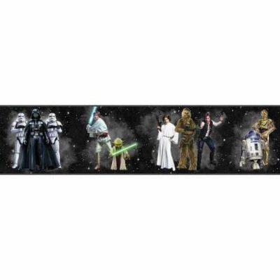 Faixa de Parede Star Wars Disney York III DY0286BD