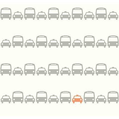 Papel de Parede Dwell Studio Baby Kids DW2460 ônibus e táxi