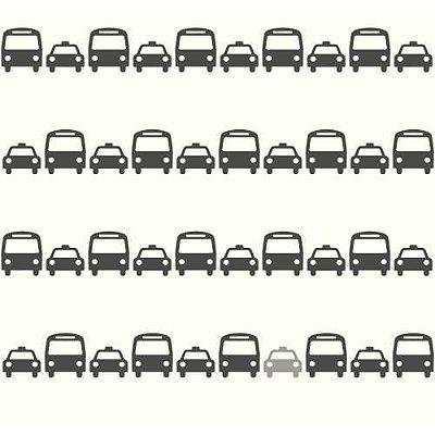 Papel de Parede Dwell Studio Baby Kids DW2461 ônibus e táxi