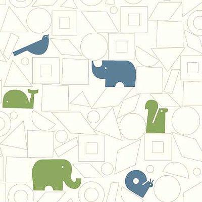 Papel de Parede Dwell Studio Baby Kids DW2442 elefante