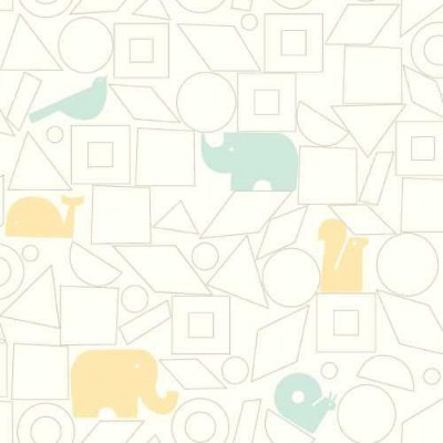 Papel de Parede Dwell Studio Baby Kids DW2440 elefante