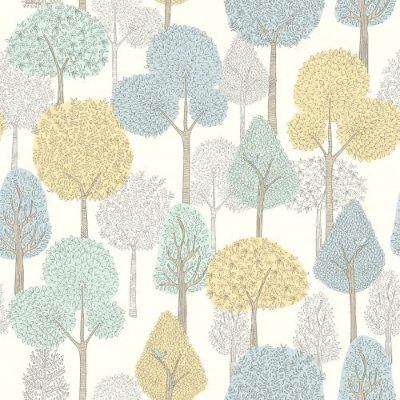 Papel de Parede Dwell Studio Baby Kids DW2402 floresta