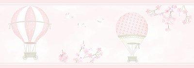 Faixa de Parede Balão Rosa Floral